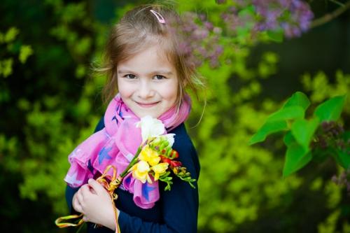 Wspomnienie wiosny - sesje dziecięce
